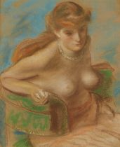 Eugene Speicher Nude Pastel Drawing