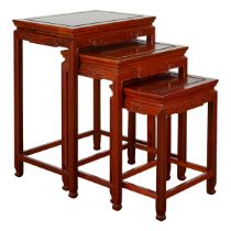 Set 3 Chinese Hardwood Nesting Tables
