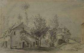 Horace   Vernet  (attr.), Zwei   ländliche   Anwesen