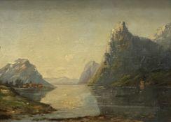 Dorf  an   norwegischem   Fjord