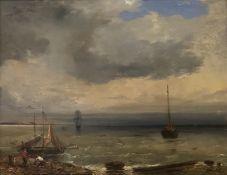 Camille  Joseph  Etienne   Roqueplan, Fischerboote  in  der   Abenddämmerung