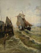 J. Claiton   (alias  Georg   Fischhof), Sturm  an  der  Hafenkante