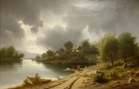 Anton   Pick, Spaziergang   bei   Weisenfels  an  der  Donau