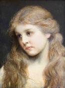 """Gabriel  von  Max, Mädchenbildnis  """"Mai"""""""