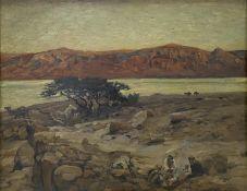 Eugen   Bracht, Abend  am   Toten   Meer