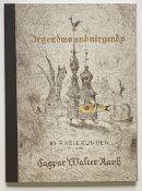 """Caspar   Walter  Rauh, Mappenwerk  """"Irgendwo  und  Nirgends""""  (10  Radierungen)"""