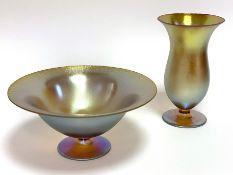 Zwei Myra - Glas - Objekte