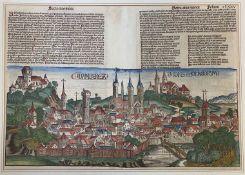 Schedel´sche  Weltchronik  1493,  Bamberg - Ansicht