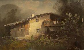 Oskar  Mulley, Bergbauernhof   im   Abendlicht