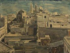 Kurt   Haase - Jastrow, Blick  auf  Cadiz  mit  der   Kathedrale
