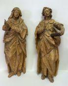 Zwei   Heiligenskulpturen  des   Manierismus:  Trauernde  Maria  und   Johannes