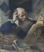 Eberhard  Stammel,  Gelehrter   beim   Bücherstudium