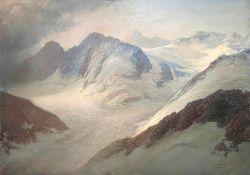 Edward   Harrison   Compton, Gletscher - Blick  im     Karwendel - Gebirge