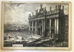 """Giovanni   Baptista   Piranesi,  Die  """"Basilica  di  S. Giovanni   Laterano""""  in  Rom"""