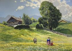 Willy Moralt, Sommer bei Lenggries