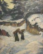 Franz  Wilhelm   Voigt, Reisigsammlerinnen   im  Winterwald