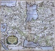 Adam  Olearius, Kupferstichkarte   Persien  (um  1630)