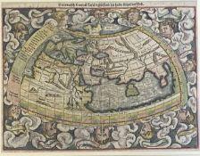 Sebastian  Münster, Ptolemäisch - ägyptische    Karte  der   Welt