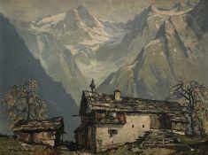 Fritz  Blädel, Bergbauernhof   in  den  Alpen