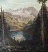 """Otto  Pippel, Großformatiges   Gemälde  """"Der  Gosausee   mit   Dachsteingebirge"""""""