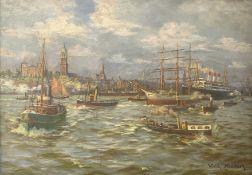 Wilhelm  Nintzel, Schiffsparade  im   Hamburger   Hafen