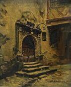 Max  Herterich, Das  Rathausportal   (Brauttor)  in  Rothenburg   ob  der   Tauber