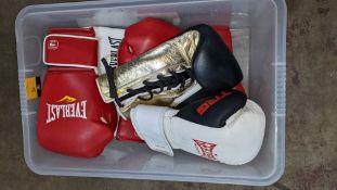 7 assorted Everlast boxing gloves, mostly right-handed - these gloves do not appear to form pairs