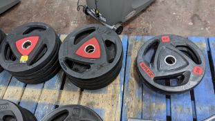 10 off Ziva 20kg weighted discs