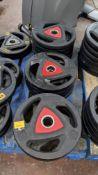 13 off Ziva 15kg weighted discs