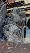 3 off large chrome fans