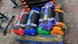 Set of Physical Company weighted bags comprising 5 items in total in sizes 5, 7.5, 10, 20 & 25kg