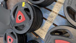 6 off Ziva 20kg weighted discs
