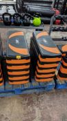 10 off Mira Fit aerobic exercise step / steppers, in each instance including 2 orange & 2 black feet