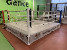 Complete boxing ring.