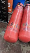 Hanging punch bag circa 5' long - this lot does not include any chains, frames or similar. NB damag