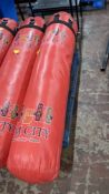 Hanging punch bag circa 5' long - this lot does not include any chains, frames or similar