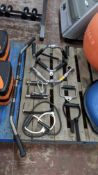 Miscellaneous lot comprising 7 assorted handles for use with assorted exercise equipment plus 2 off
