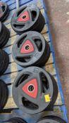 12 off Ziva 20kg weighted discs