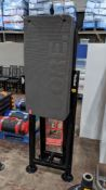 Fitness mat set comprising tall Reebok branded metal stand & 23 Escape Fitness core anthracite grey