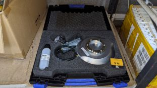 Faro vacuum suction mount for use with Faro inspection arms & similar, complete with case