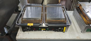 Buffalo double twin contact grill system model DM902-02