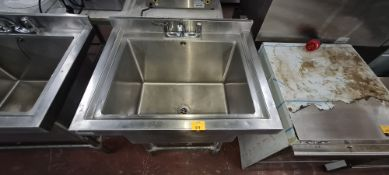 Vogue freestanding stainless steel basin with mixer tap