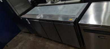 Precision MCU 311 stainless steel multi door refrigerated prep cabinet