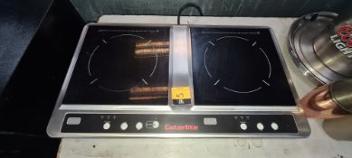 Caterlite benchtop twin electric hob system