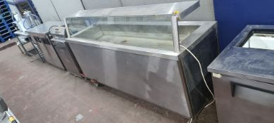 Stainless steel & glass serve over counter