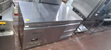 Williams HJC2SA R1 JADE stainless steel refrigerated prep cabinet