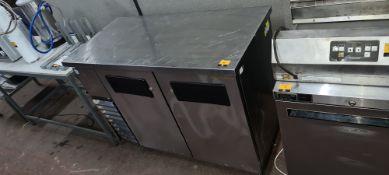 True Refrigeration stainless steel refrigerated prep cabinet
