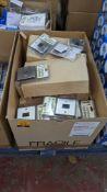 Box of Vistalux Lighting assorted chrome finish sockets & switches