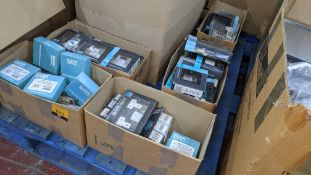 5 small boxes of Click Definity & Click Deco assorted sockets & switches