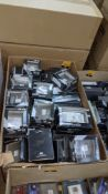 Box of Eurolite & Exel chrome finish sockets & switches - this lot consists of the total contents of